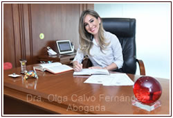 Dra. Olga Calvo, Abogada